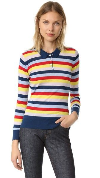 Holly Fulton Wide Stripe Polo Shirt