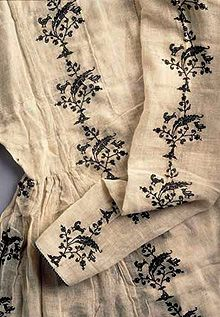 History behind the 14th Century Persian embroidered kamis/pirihan.