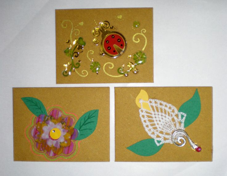 Mini flowery cards