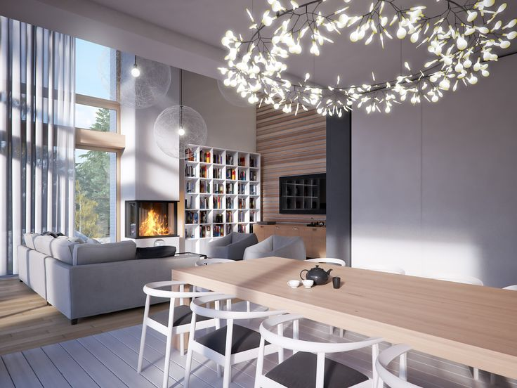 LK&1253 #salon #jadalnia #wnętrza #architektura #design #LKProjekt
