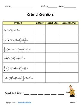 17 Best images about Order of Operations on Pinterest | Activities ...