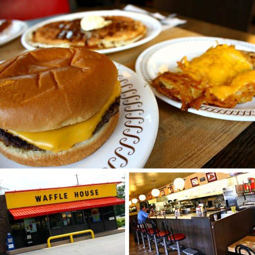 You may not consider Waffle House a burger place, but I submit that theirs is actually better and a much better bargain than what the clown, the king, and the pigtailed girl are handing out. Hot, steamy, melty, with real grease dripping off of it—this is fast food without everything that makes fast-food cringeworthy.