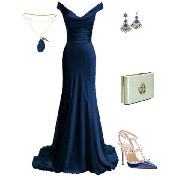 """blue eveningwear"" by sheila-lester on Polyvore"