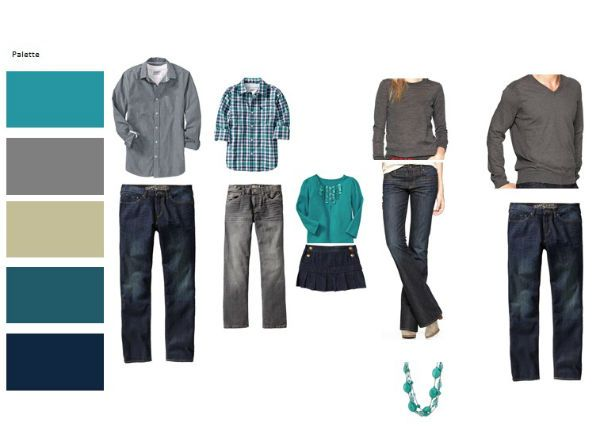 Coordinating Clothes For Family   clothing selection for family portraits