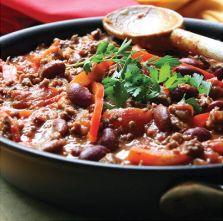 Another recipe for if you have a  Pressure King Pro : Chilli Con Carne...    Pressure King Pro cooking time: 30 minutes