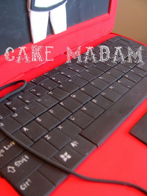 The Laptop cake | Flickr - Photo Sharing!