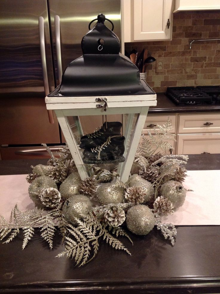 Kitchen Island Centerpiece Christmas Holiday