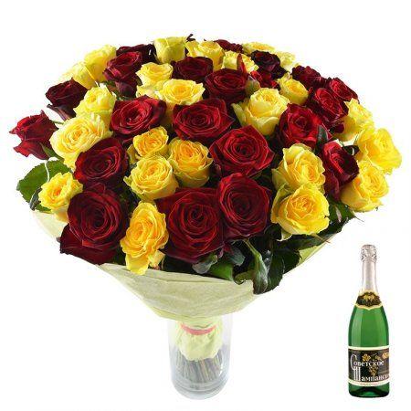 Красные розы – символ любви, желтые - символизируют благополучие, богатство и процветание. Подарив этот букет, Вы тем самым покажете, насколько Вам дорог получатель, и выразите самые искренние пожелания любви, счастья и процветания.