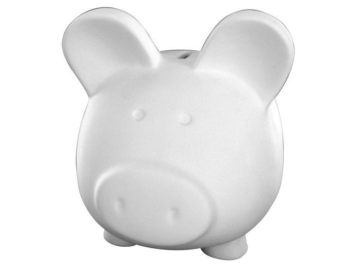 Big pig bank paint your own ceramic paint a potamus for How to paint a ceramic piggy bank