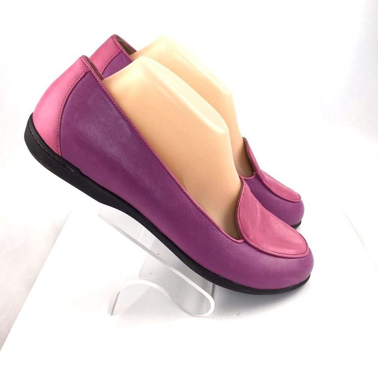 Dansko Nastacia Leather Loafers size EU 39 US 8.5-9 fuchsia pink flat shoes #Dansko #LoafersMoccasins #Casual