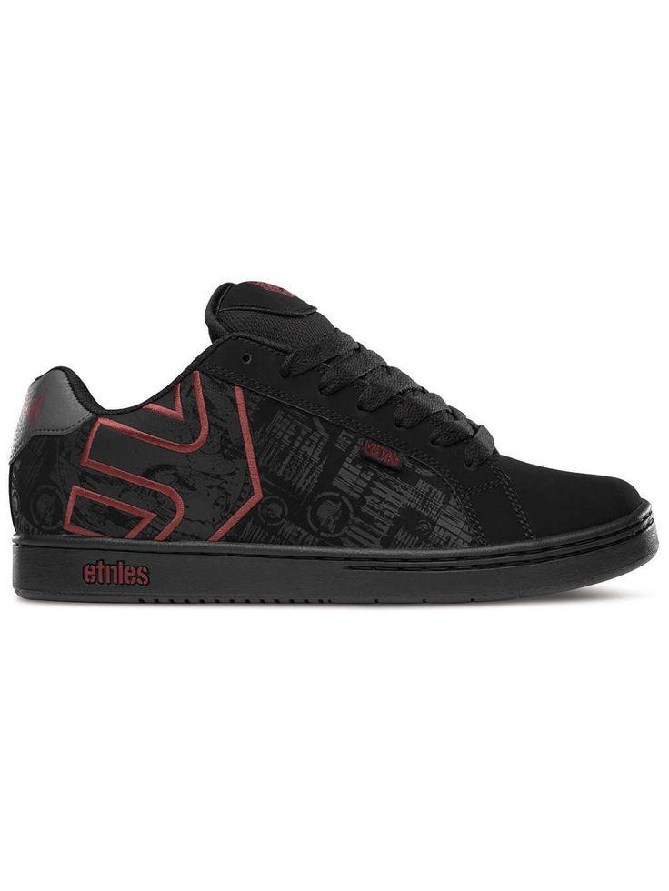 Etnies Metal Mulisha Fader black grey gum Skater Schuhe Sneaker schwarz
