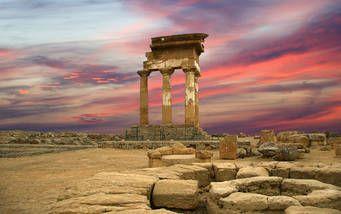 Alter griechischer Tempel von Doscuri im Tal der Tempel, Agrigento