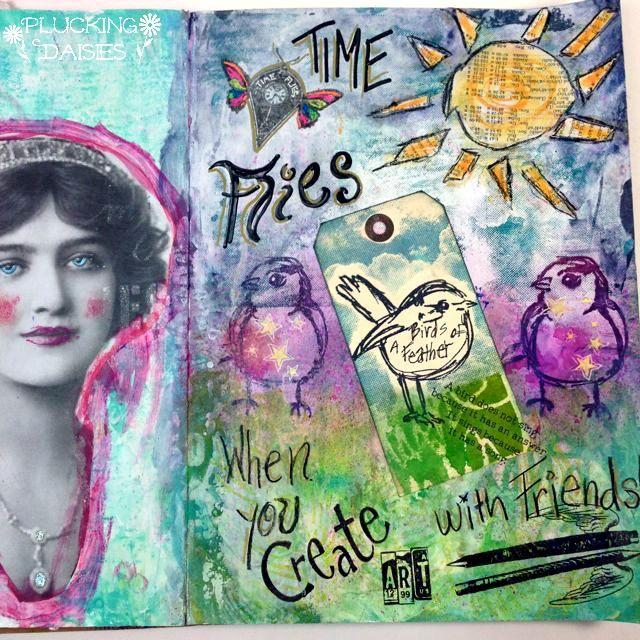 Art Journaling with Dina Wakley | Pluckingdaisies.com
