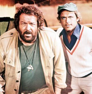 """Prügeln und prügeln lassen: Das Erfolgsduo Bud Spencer und Terence Hill, hier in """"Das Krokodil und sein Nilpferd"""" (1979)"""