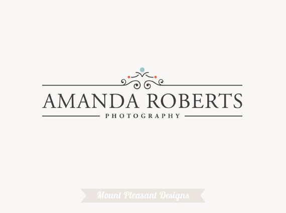 Premade photography logo design & watermark - vintage logo design