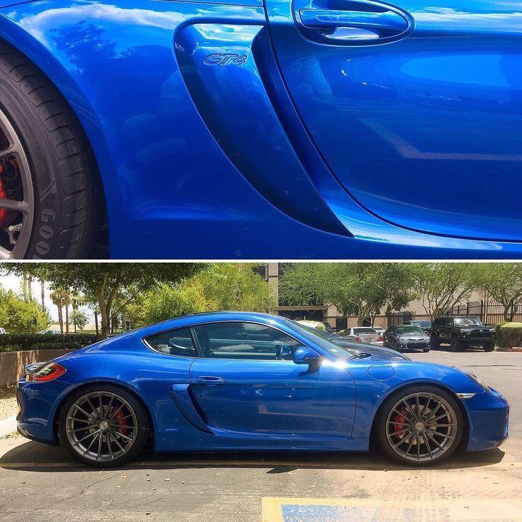 Our project sapphire blue Porsche 981 Cayman S with color