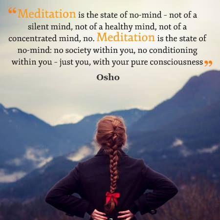 meditation of no mind, osho