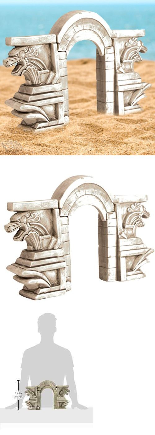 Animals Fish And Aquariums: Ceramic Aquarium Ornament 3 Piece Stone Dragon Gate Large Fish Tank Decoration -> BUY IT NOW ONLY: $65.29 on eBay!