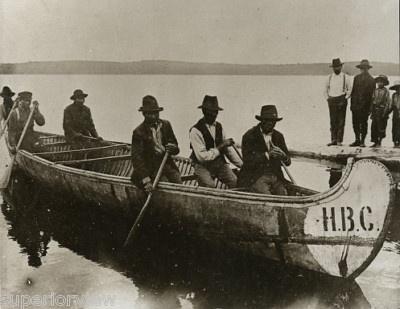 Vintage Birch Bark Canoe Hudson Bay Co Native American Photo   eBay
