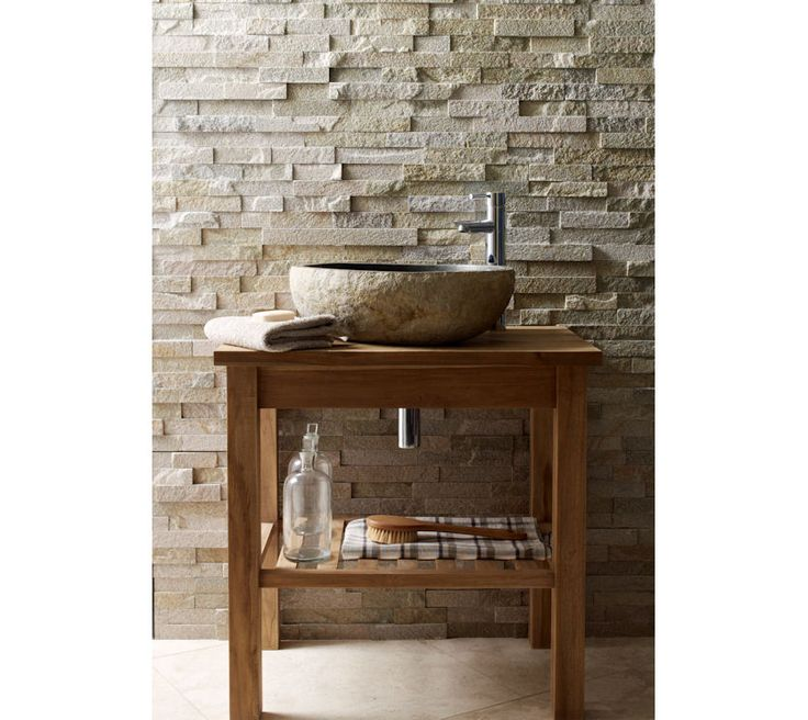 TEak Washstand In Situ