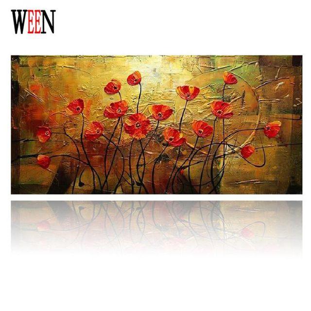 Handpainted Цветы Современные Wall Art Picture Home Decor Картина Маслом На Холсте Для Спальни Без Рамы Высокого Качества Рождественский Подарок