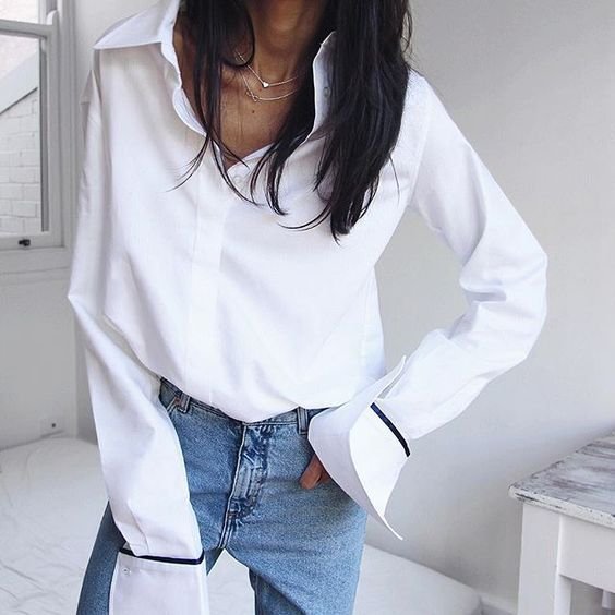 17 best ideas about white shirt and jeans on pinterest for Best shirts to wear untucked