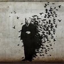"Details about BANKSY STREET ART CANVAS PRINT Hitchcock The Birds 8""X 10"" stencil…"