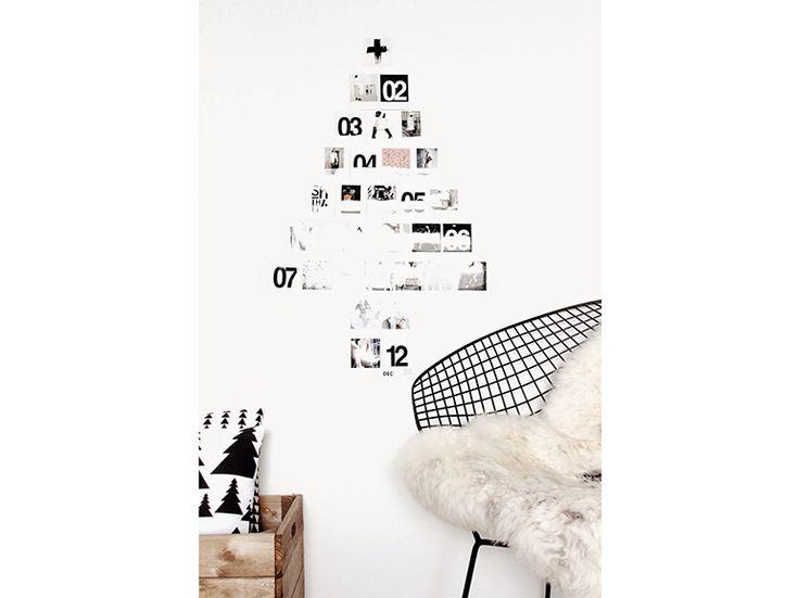 10-Il-Natale- nordico-20- ispirazioni-design-scandinavo-albero-fatto-di-foto-a-parete