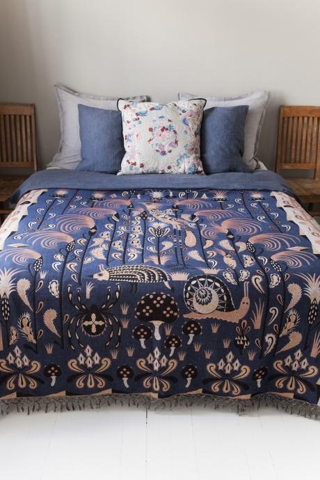 whimsical, mystical textiles of Klaus Haapaniemi #bedroom