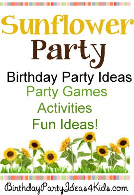 sunflower theme birthday party ideas for kids tweens and teens games activities and - Fun Halloween Games For Teenagers