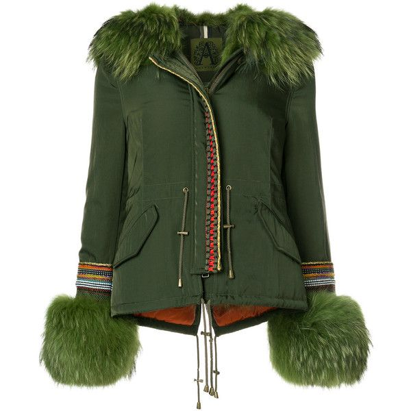 Alessandra Chamonix parka jacket with fur trim ($2,168) ❤ liked on Polyvore featuring outerwear, jackets, green, green parka, dog parka, dog parka jackets, dog jackets and parka jacket