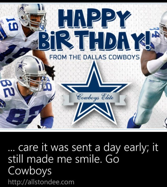 20 best images about birthday cowboys – Football Team Birthday Cards