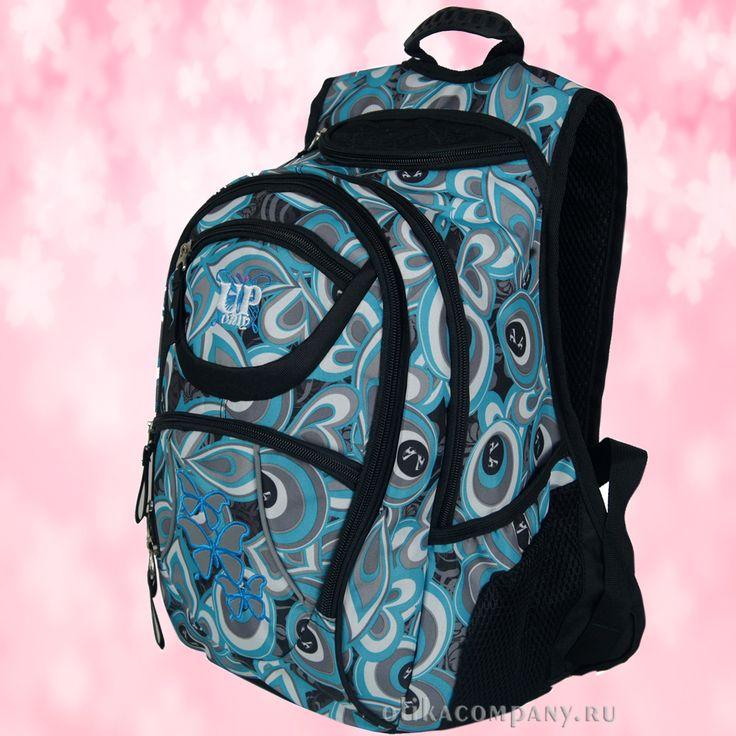 Рюкзак 13356 принт бабочки, размеры 26*18*38 см 2000 руб #сумки #рюкзак #учеба #школа