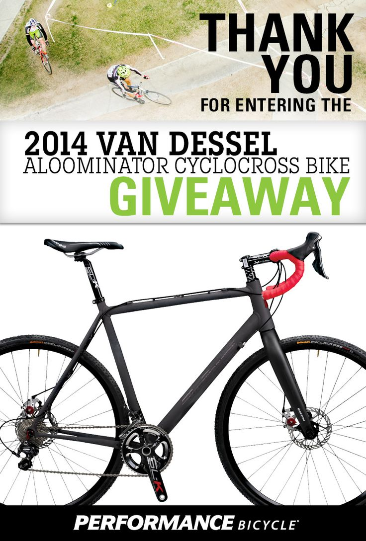 Enter to win a unique Van Dessel Aloominator Cyclocross Bike worth $4000 from Performance Bicycles!