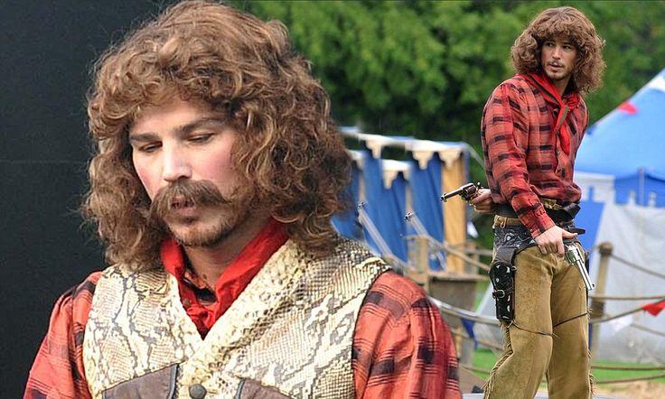 Josh Hartnett on set of new television series Penny Dreadful