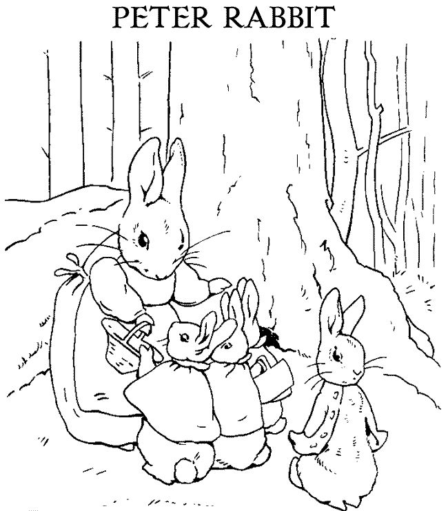 8 best Kids coloring Pages images on Pinterest Coloring pages - best of bunny rabbit coloring pages print