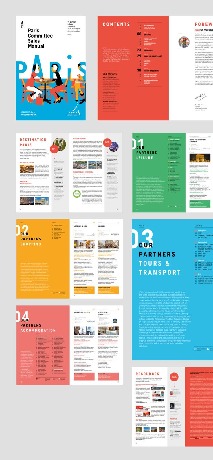 charte graphique de loffice du tourisme de paris graphine agence de communication - Booklet Design Ideas