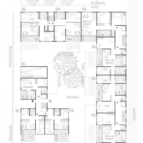 Die besten 25+ Grundriss mehrfamilienhaus Ideen auf Pinterest - grundriss küche mit kochinsel