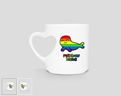 #Rainbow Blebs #heart-shaped #mug #mugs Buy on #cupsell: http://whattheblebs.cupsell.com/product/1629712-product-1629712.html #seal #seals #cute #adorable #cartoon #cartoons #lgbt #pride #lesbian #lesbians #gay #gift #gifts #children #kids