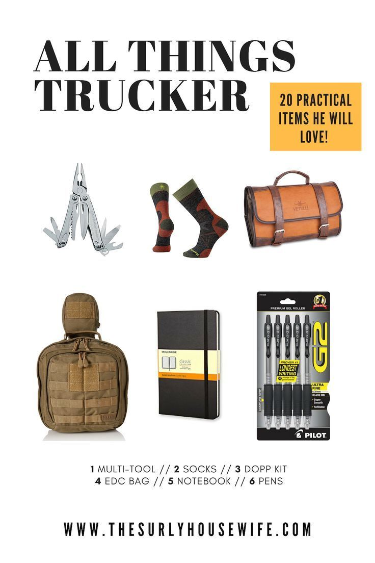 Gift Guide for Truck Drivers Thoughtful gifts for him