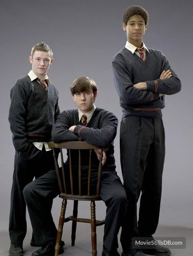 Harry Potter and the Order of the Phoenix promo shot of Matthew Lewis, Devon Murray & Alfie Enoch