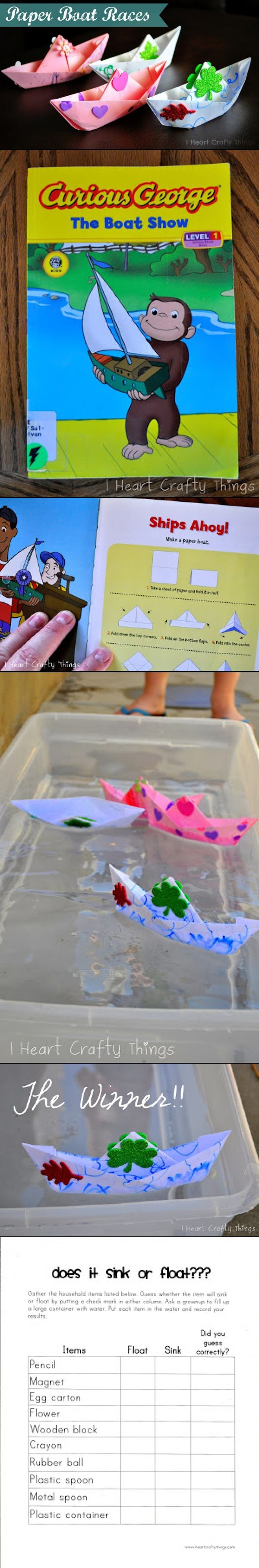 Cute idea for Sink and Float unit.  FREE sink and float worksheet.