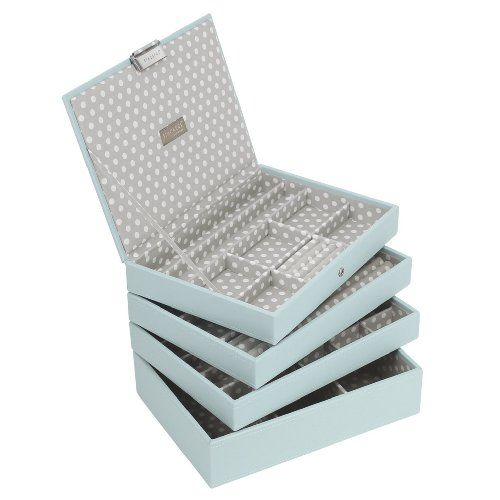 Light Blue Stackers Jewellery Box COMPLETE SET Includes all 4 trays as Shown: Amazon.co.uk: Kitchen & Home