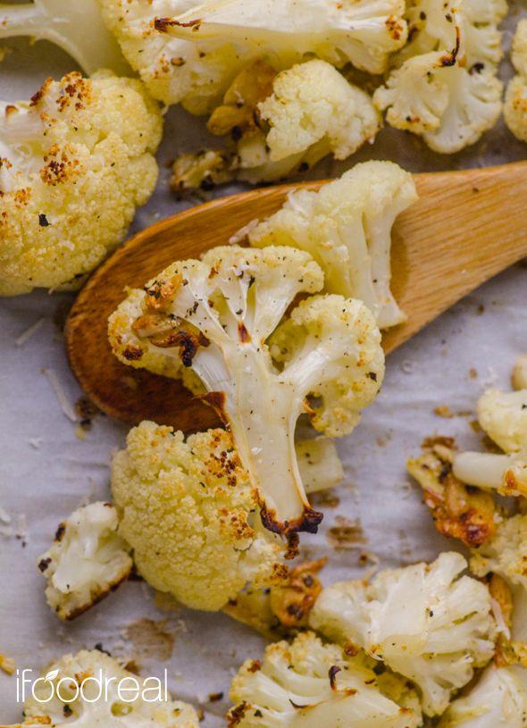 Roasted Garlic & Parmesan Cauliflower | Recipe | Olive oils, Fresh and ...