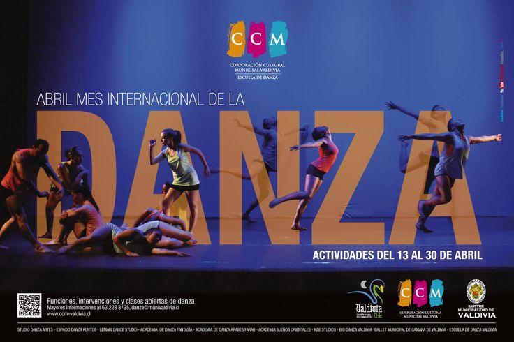 afiche Mes de la Danza 2015. Escuela de Danza de Valdivia.