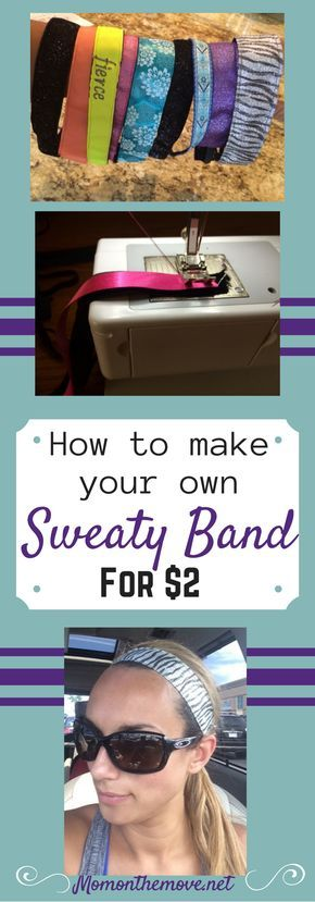Diy tutorial on how to make your own workout headbands, you our own sweaty bands for super cheap.