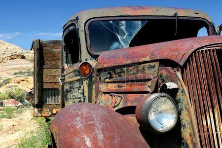 vintage camion agricole dans les r gions rurales du Wyoming Banque d'images