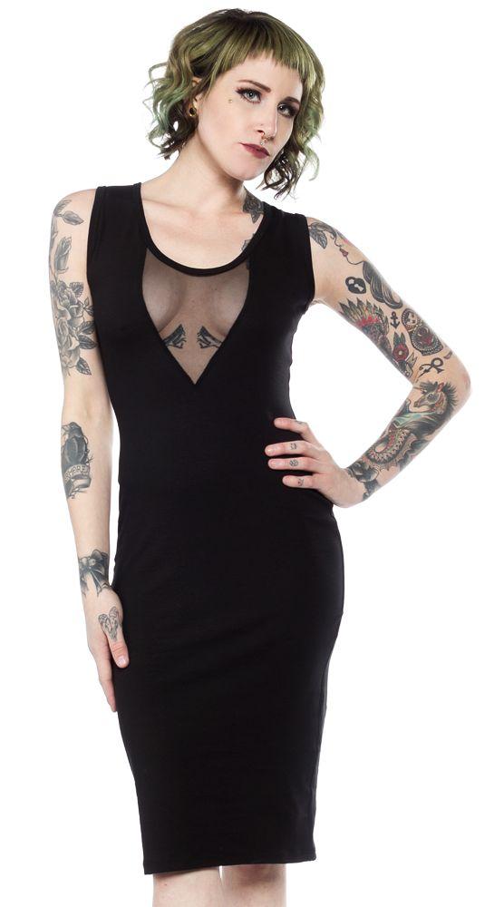 SWITCHBLADE STILETTO VAMP DRESS BLACK $48.00 #switchbladestiletto #dress #vampdress