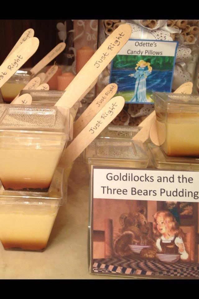 Just Right porridge ( custard) from goldilocks for story book party