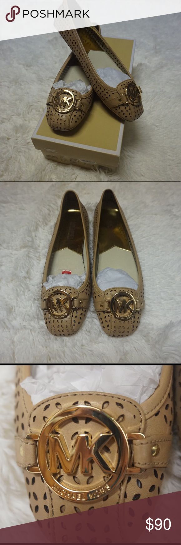 NEW Michael Kors Flats These are new! 100% Authentic Nude Michael Kors Fulton Moccasins. :) Make me offers. Or bundle! (: Michael Kors Shoes Flats & Loafers